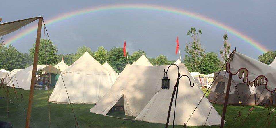 Rainbow over GNEW campsite