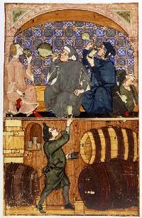 Monks drinking